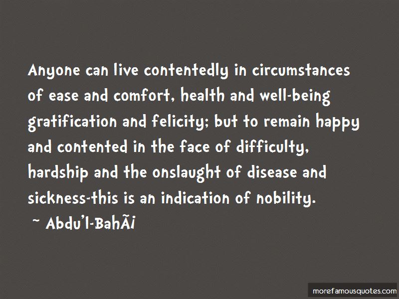 Quotes About Being Contented And Happy Top 8 Being Contented And