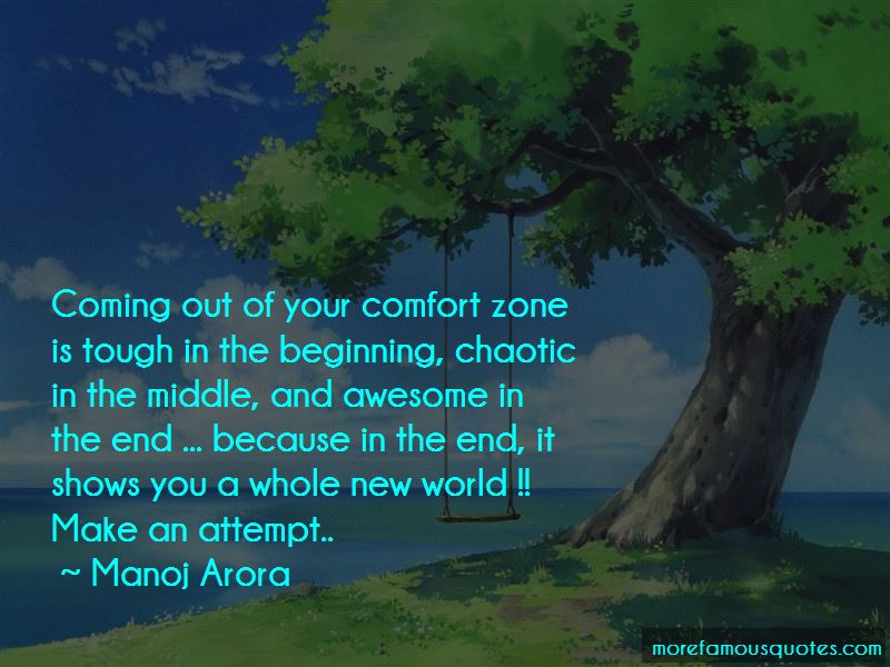 Quotes About Coming Out Of Your Comfort Zone