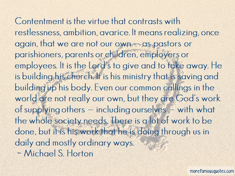 Contentment In Work Quotes Pictures 2