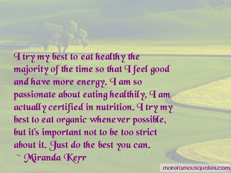 Quotes About Eating Healthily