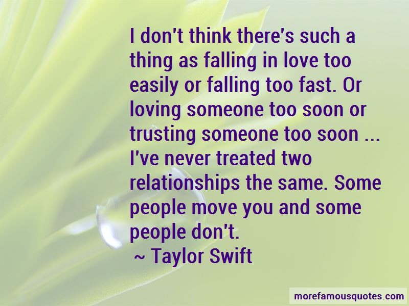 Quotes About Falling In Love Too Fast