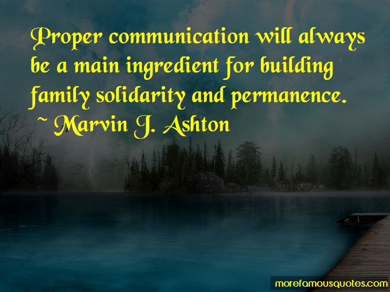 Quotes About Family Solidarity