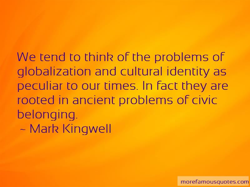 Quotes About Globalization And Identity