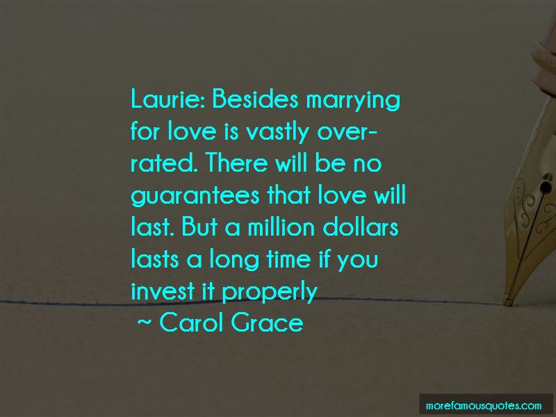 marrying for love