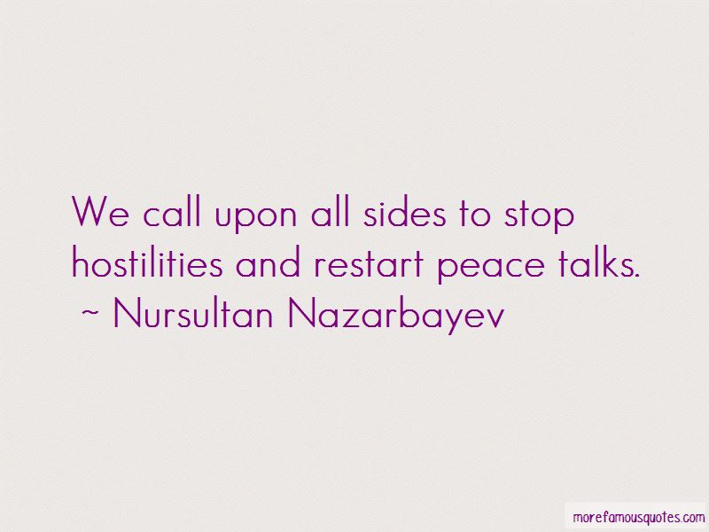 Quotes About Peace Talks