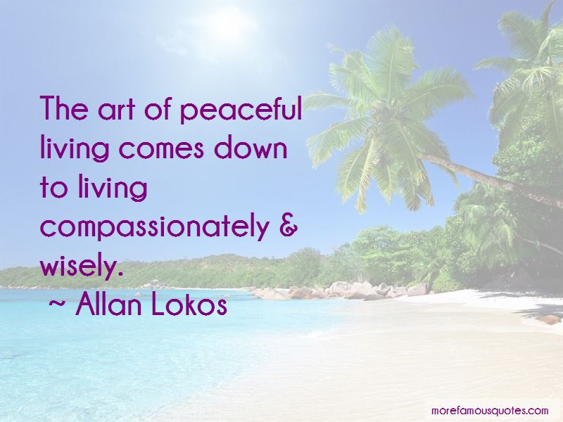 Quotes About Peaceful Living