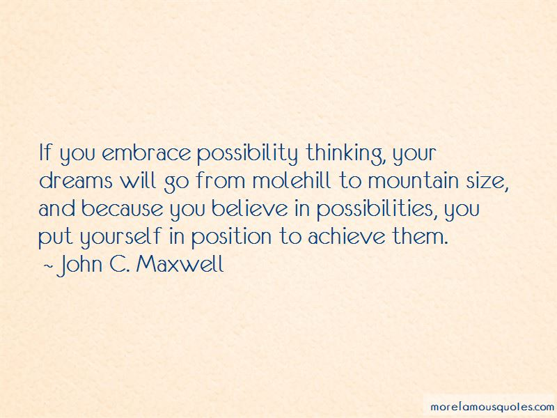 Possibility Thinking Quotes Pictures 2