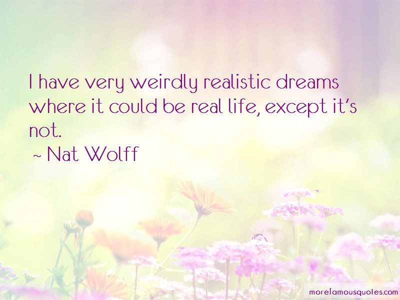 Realistic Dreams Quotes Pictures 2