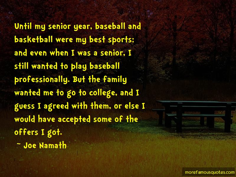 Quotes About Senior Year Sports