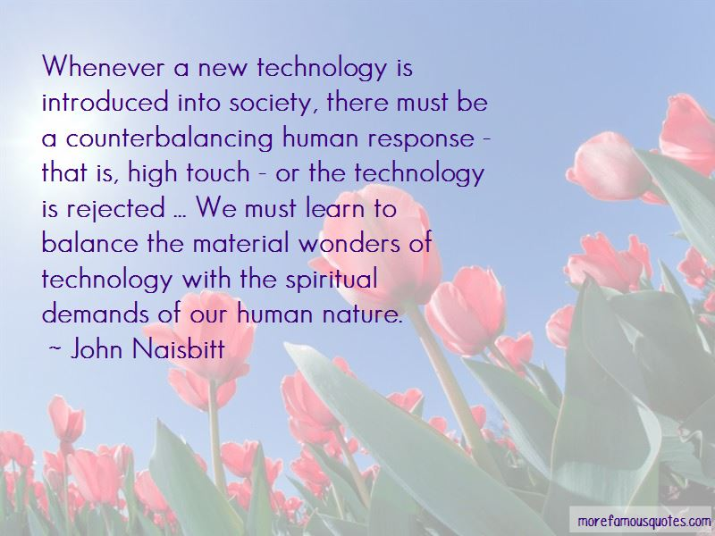 Technology Vs Nature Quotes Pictures 2