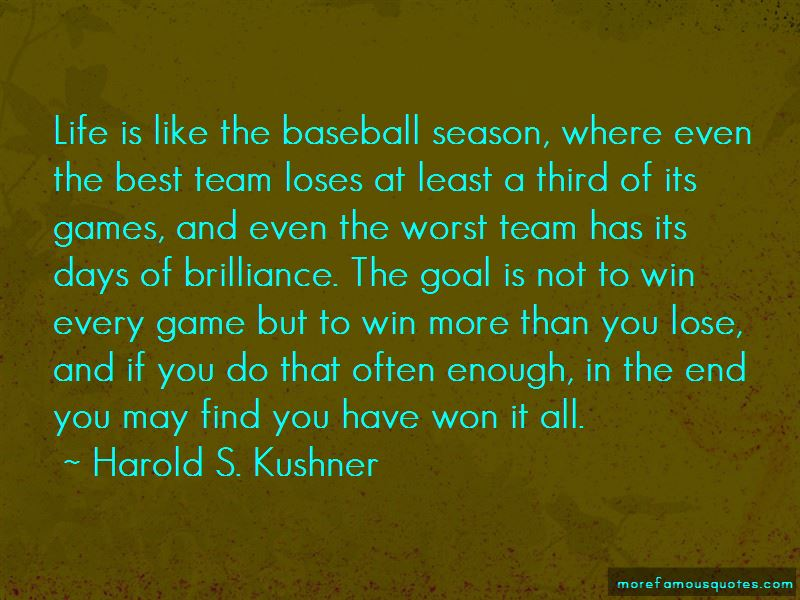 Quotes About The End Of Baseball Season