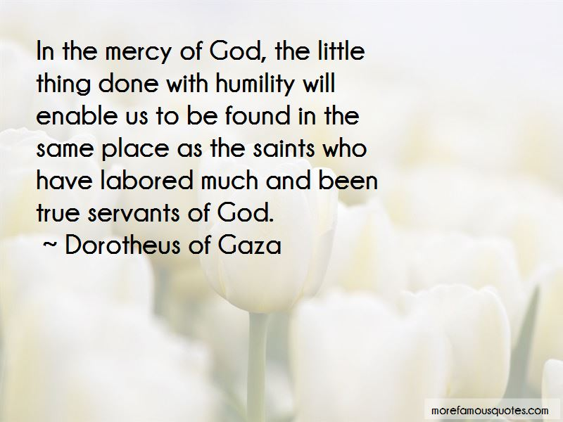 Quotes About The Mercy Of God