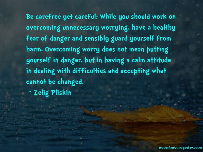 Quotes About Unnecessary Worrying