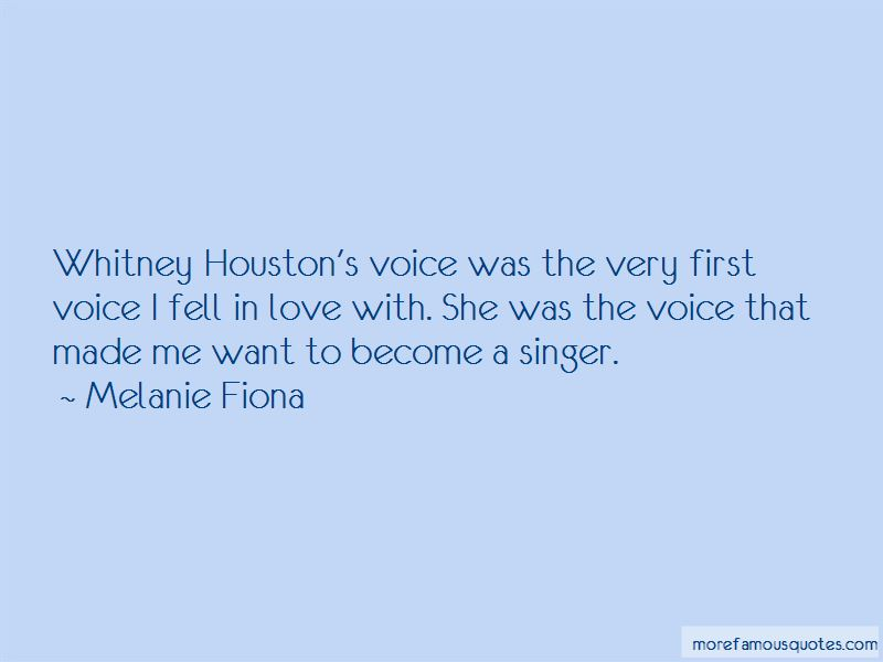 Quotes About Whitney Houston's Voice