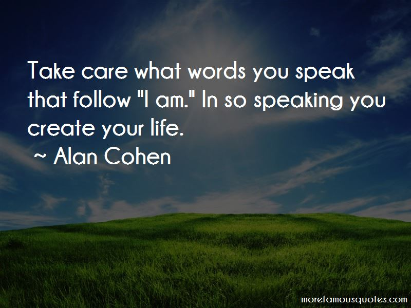 Quotes About Words You Speak