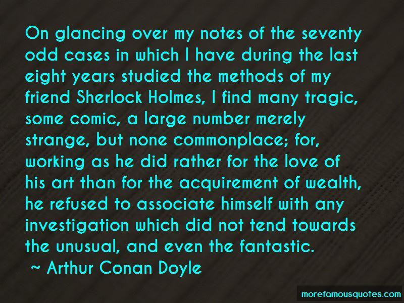Sherlock Holmes Investigation Quotes