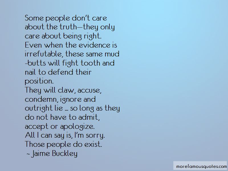 Sorry I Care Quotes