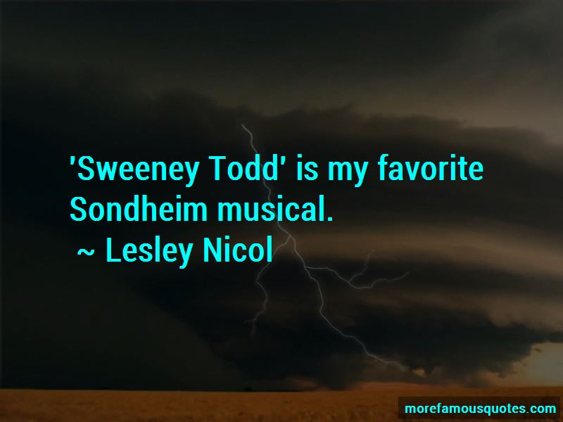 Sweeney Todd Musical Quotes