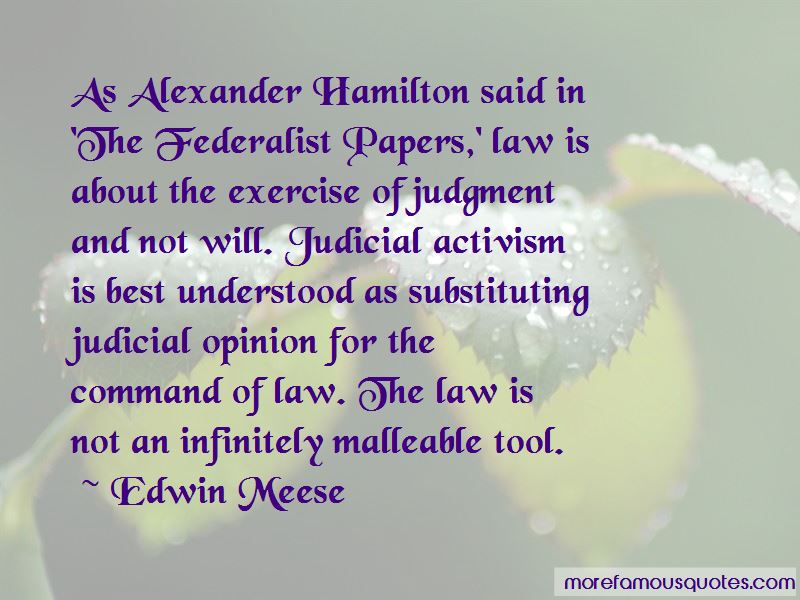 The Federalist Papers Alexander Hamilton Quotes