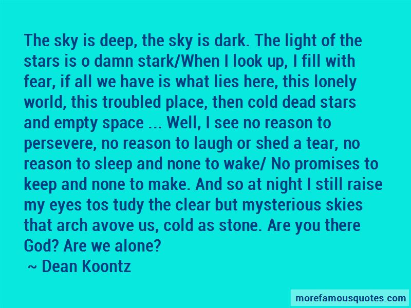 Alone In This Cold World Quotes