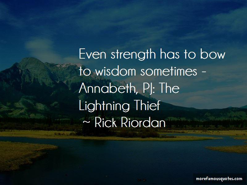 Annabeth Lightning Thief Quotes