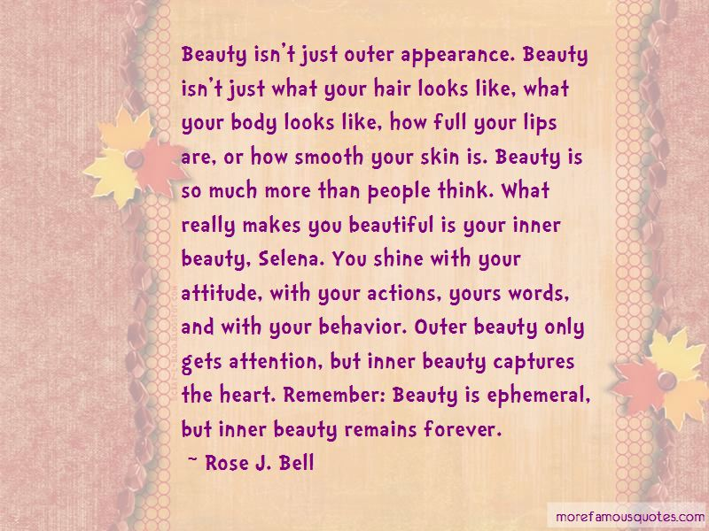 Beauty Is More Than Just Looks Quotes Pictures 3