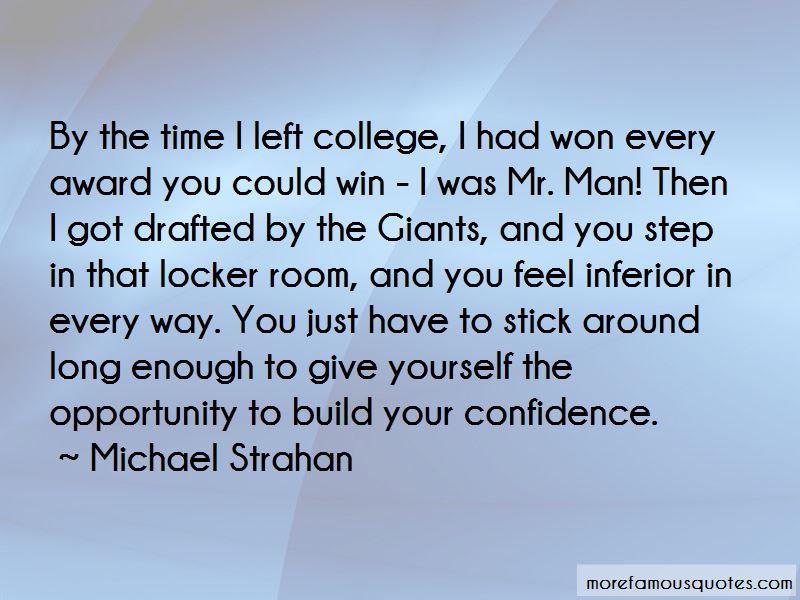 College Locker Room Quotes