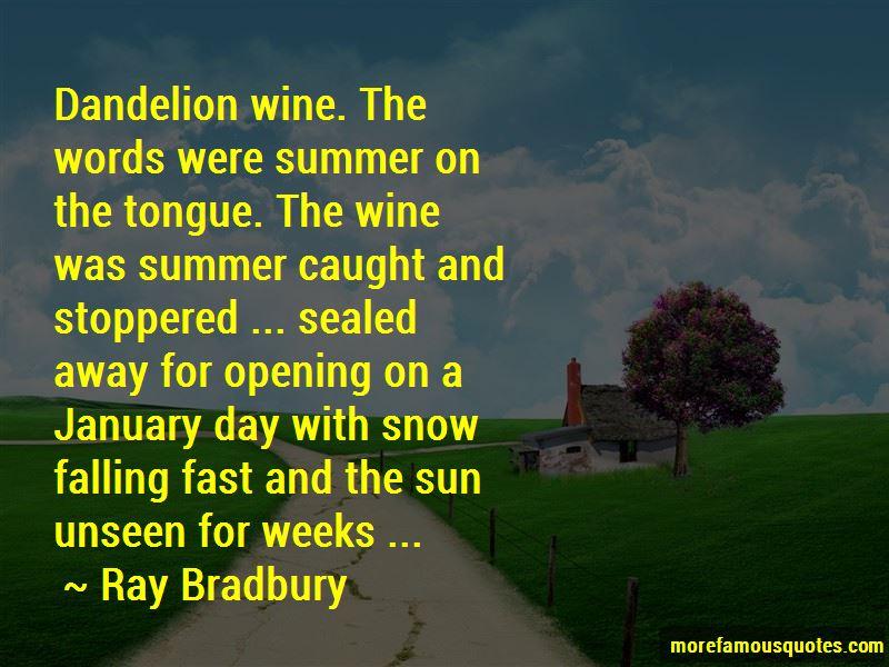 Dandelion Wine Quotes Pictures 4
