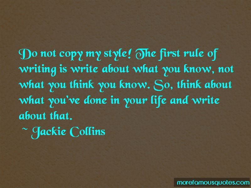 Do Not Copy My Style Quotes