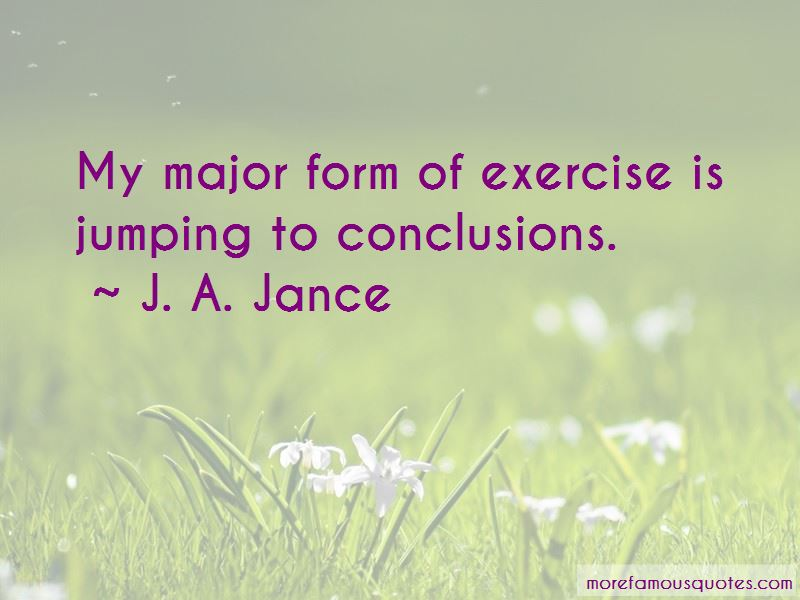 Jumping To Conclusions Quotes Magnificent Exercise Jumping To Conclusions Quotes Top 5 Quotes About