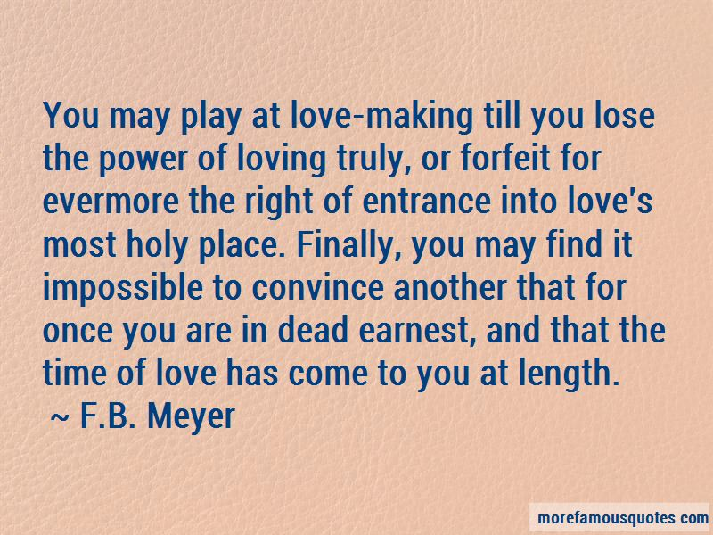 Forfeit Love Quotes