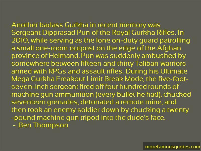 Gurkha Soldier Quotes
