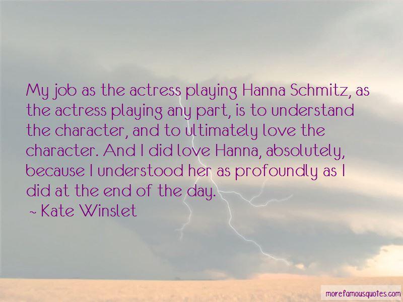 Hanna Schmitz Quotes