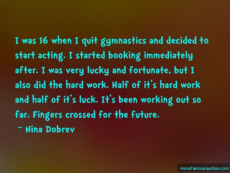 Hard Work Gymnastics Quotes