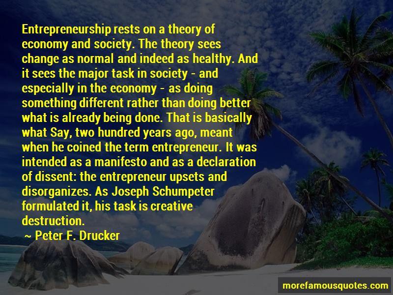 Joseph Schumpeter Entrepreneurship Quotes