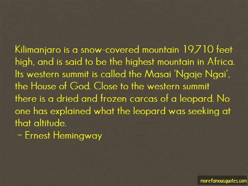 Kilimanjaro Mountain Quotes