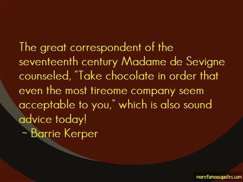 Madame De Sevigne Quotes