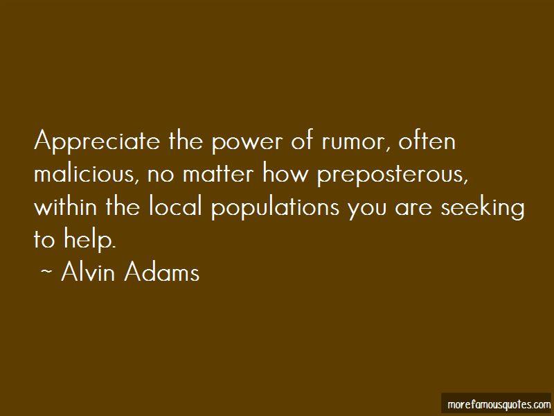 Malicious Rumor Quotes