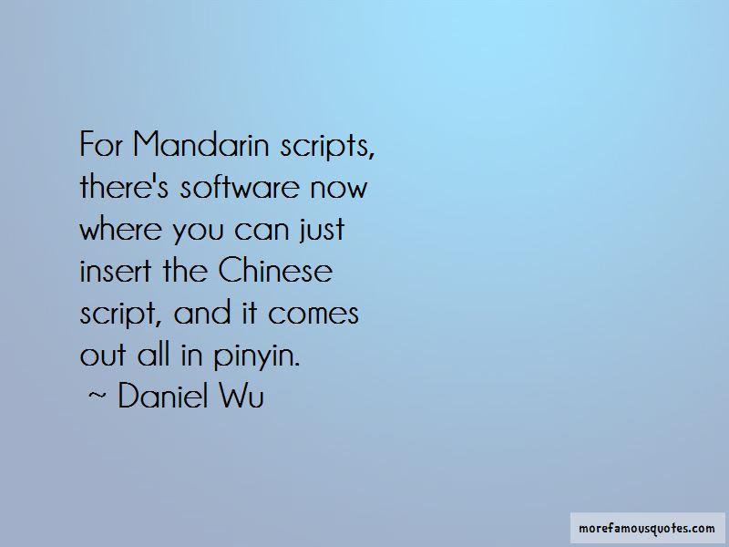 Mandarin Pinyin Quotes