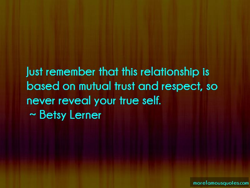 mutual respect and trust But mutual trust and respect (mt&r) seem to be internally incompatible for mutual respect there must be disagreement, a byproduct of diversity on the other hand for mutual trust, we should be in.
