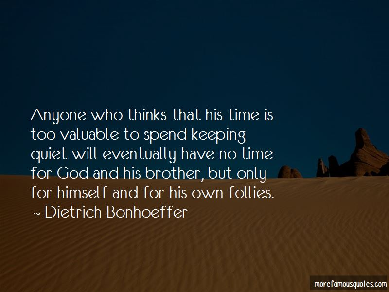No Time For God Quotes