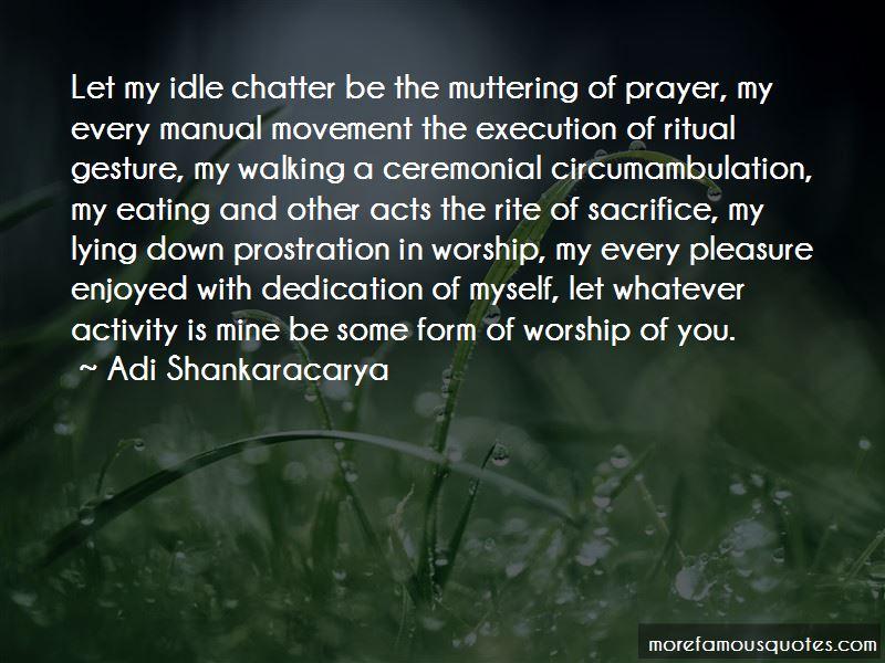 Sacrifice Ritual Quotes