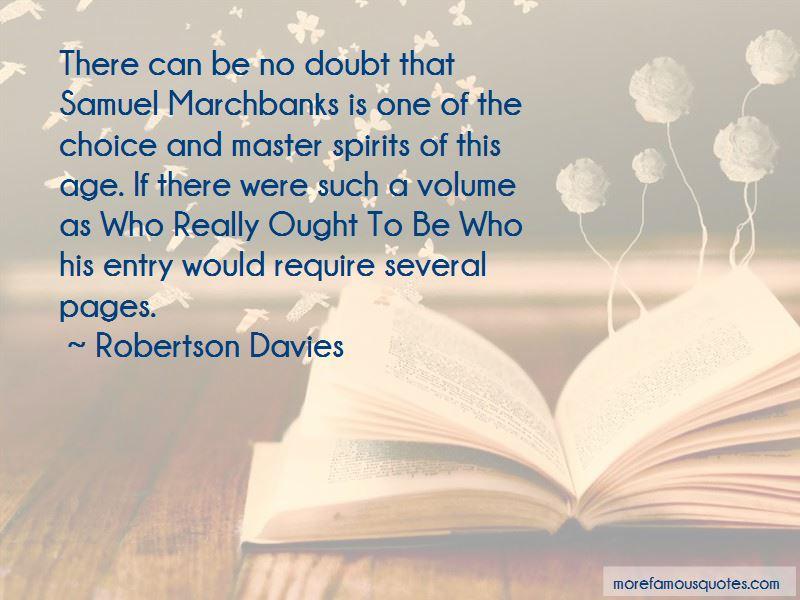 Samuel Marchbanks Quotes
