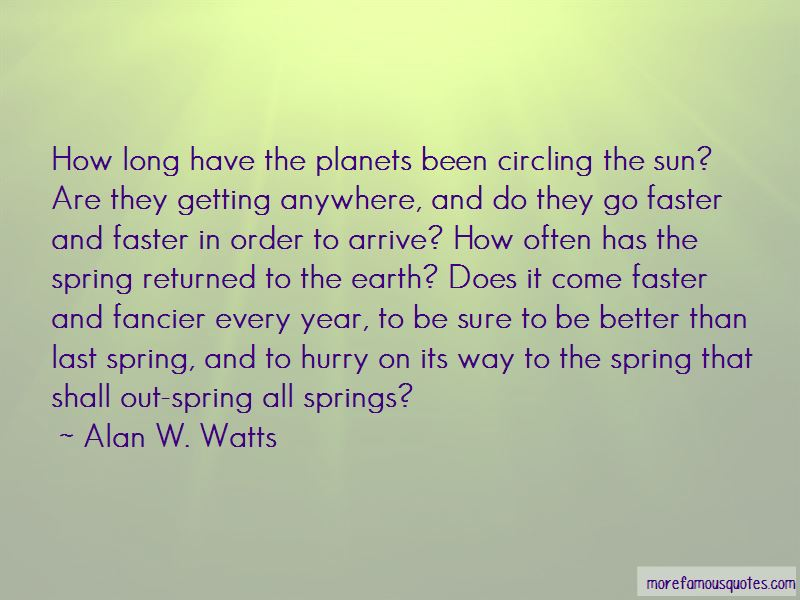 Spring Come Faster Quotes