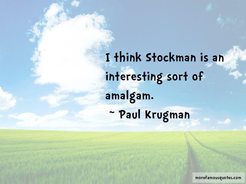 Stockman Quotes