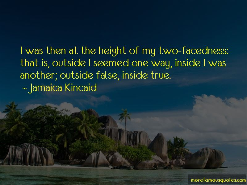 Two-facedness Quotes