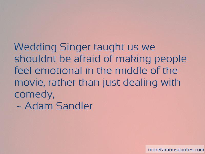 Wedding Singer Quotes
