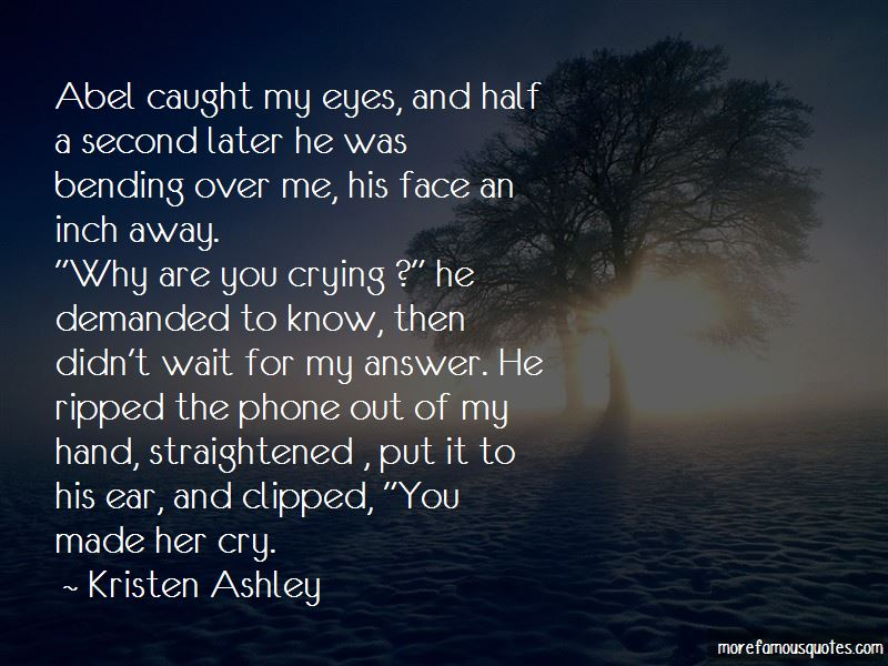 Why Am I Crying Over You Quotes