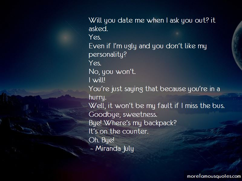 Will you date me quotes