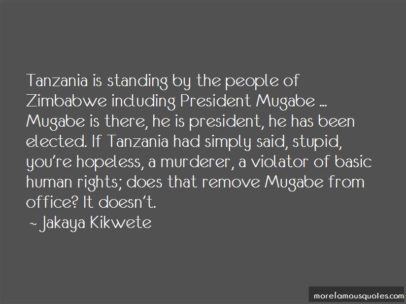 Zimbabwe President Quotes